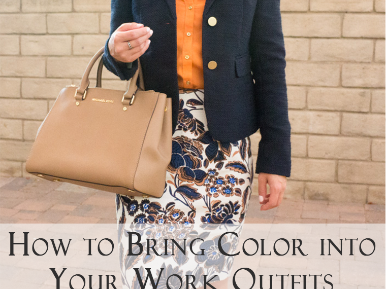 Ann Taylor floral skirt | Petite fashion | When your workweek needs a pick-me-up, I look forward to bringing color into my petite professional work outfits with colorful pencil skirts. I love Ann Taylor for petite-friendly work floral pencil skirts. Pin now and save for style inspiration later!