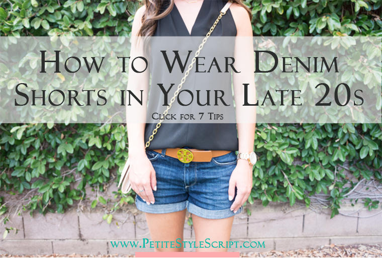 Read how to find and wear denim shorts in your late 20s/early 30s. Ever wonder what goes into finding a denim short that is age-appropriate, stylish and classic for long-term wear? Here I discuss the Paige Jimmy Jimmy Denim Short. Click to read more or pin and save for later!