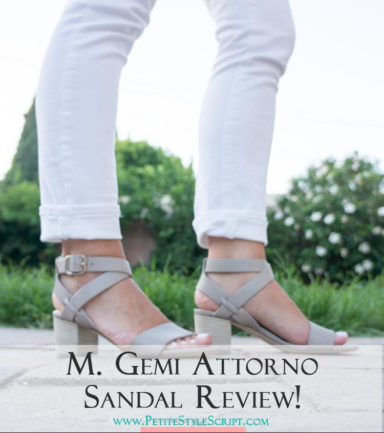 d6d86e378ab M. Gemi Attorno Sandal Review - Petite Style Script