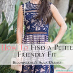 How to Find a Petite Friendly Fit: Bloomingdales Aqua Dress