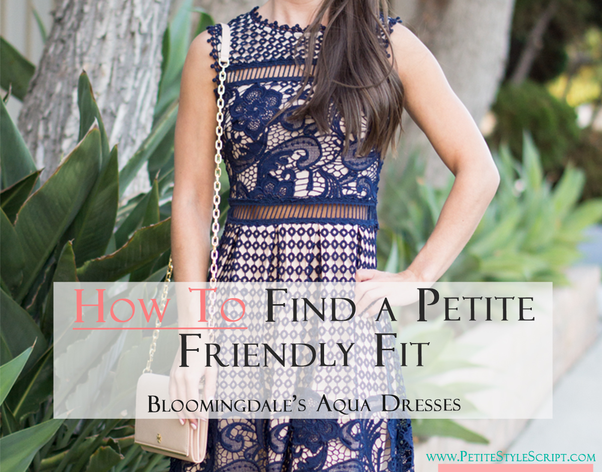e40b4c4d26c How to Find a Petite Friendly Fit  Bloomingdales Aqua Dress - Petite ...