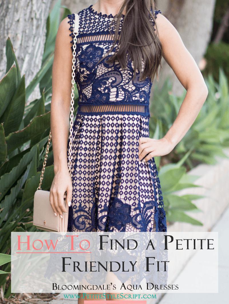 f364d54565f1 How to Find a Petite Friendly Fit  Bloomingdales Aqua Dress - Petite ...