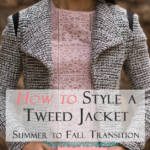 Petite fashion & style | Banana Republic Tweed Jacket | How to style a petite tweed jacket for summer to fall transition. I love a versatile jacket that easily pairs with many color or print combinations. This Banana Republic tweed jacket is no exception-dress it up or down. Click to read more!