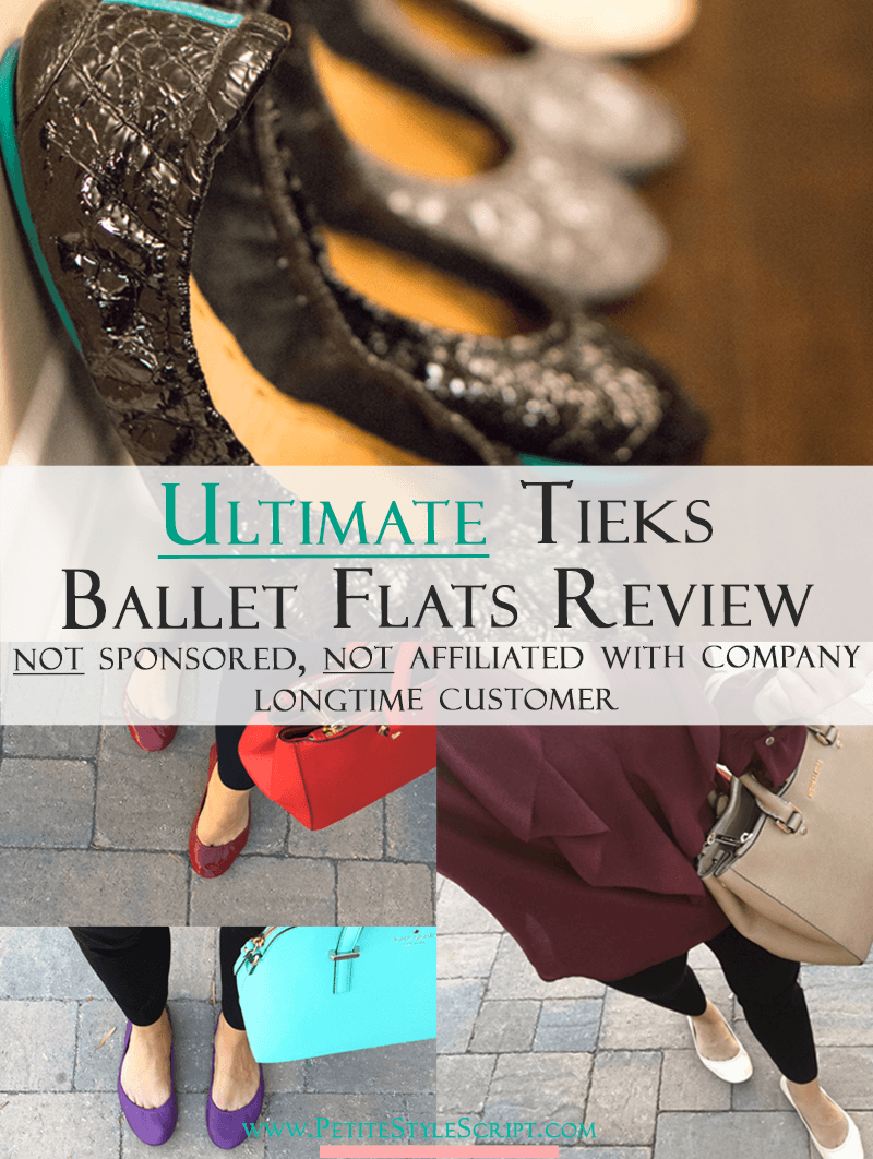 Tieks Ballet Flats Review | Honest Tieks Review | Ultimate Tieks Review | Are Tieks worth the price? | Are Tieks comfortable? | Do Tieks last? | Should I purchase patent or classic leather Tieks? | All your questions answered here. Best ballet flats for busy professionals. Not affiliated. Not sponsored. Click to read & watch more!