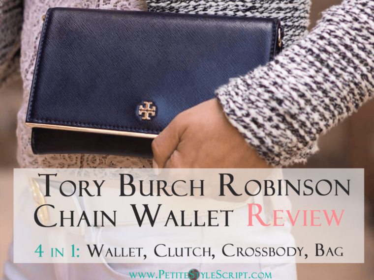 Tory Burch Robinson Chain Wallet Review | 4 items in 1 | Versatile perfect wallet clutch shoulder bag evening bag | Busy professional | Designer WOC Chanel YSL dupe | Click now to read my review and video on how to use this wallet. 16 card slots, 2 large compartments, 1 zipper compartment, 2 sections for phone, keys, lipstick or lip gloss.