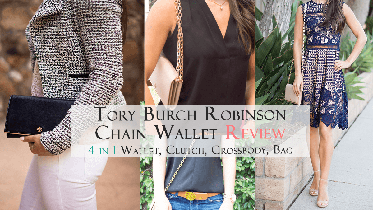 b38ae2cd8f2c Tory Burch Robinson Chain Wallet Review  4 in 1