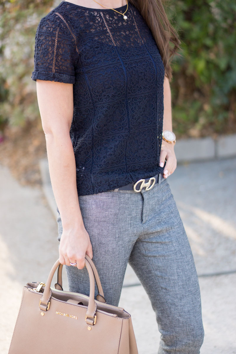 How To Wear Navy Amp Gray Together For Work Outfit Petite