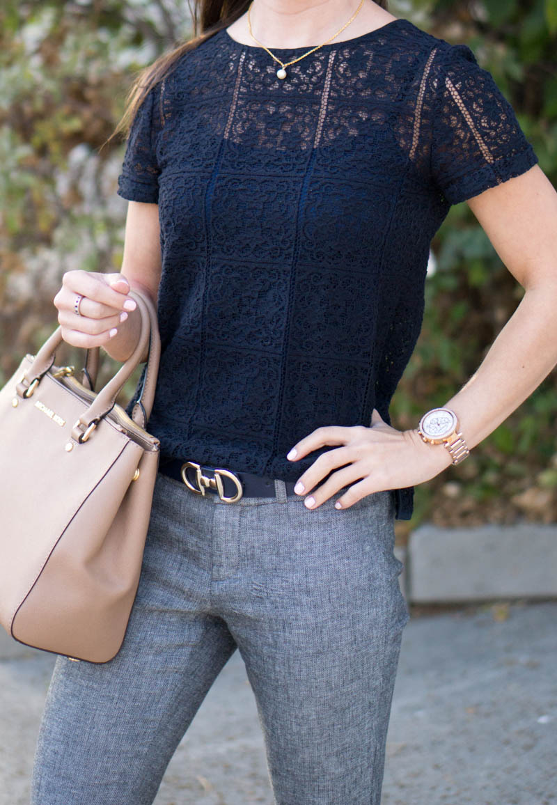 How To Wear Navy Gray Together For Work