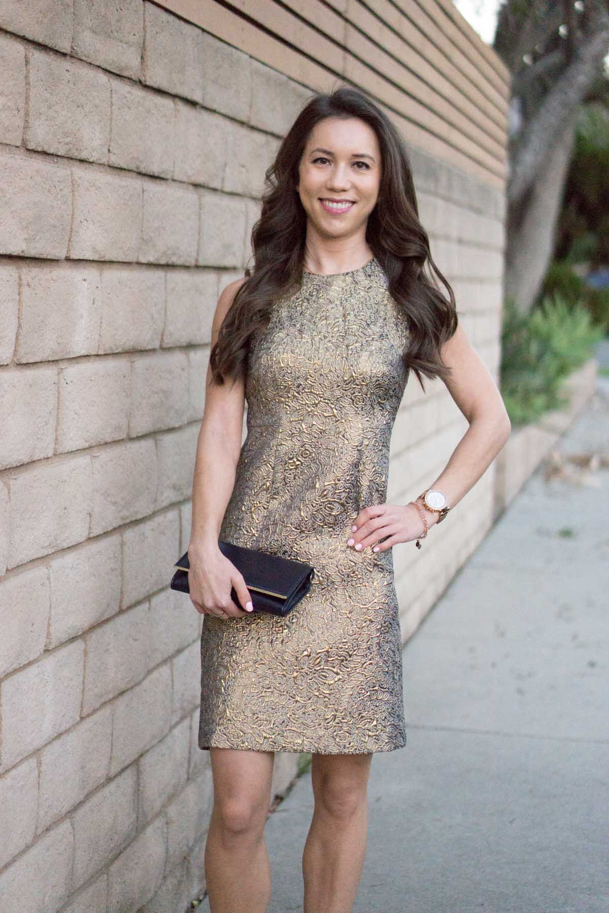Gold Holiday Party Dress How To Style Year Round