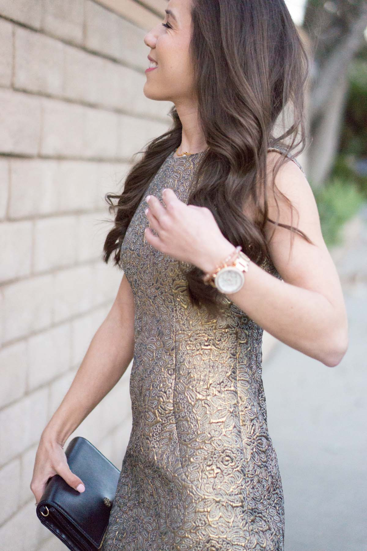 Gold Holiday Party Dress - How to Style Year Round