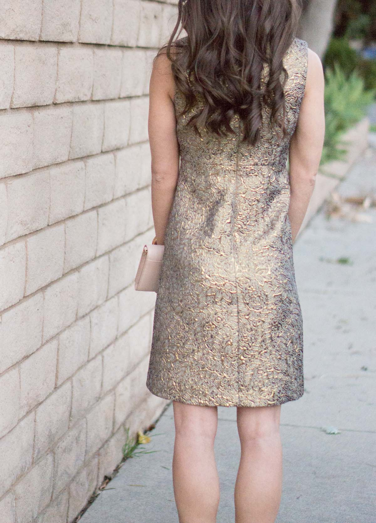 2e2b17585b57 Gold Holiday Party Dress - How to Style Year Round