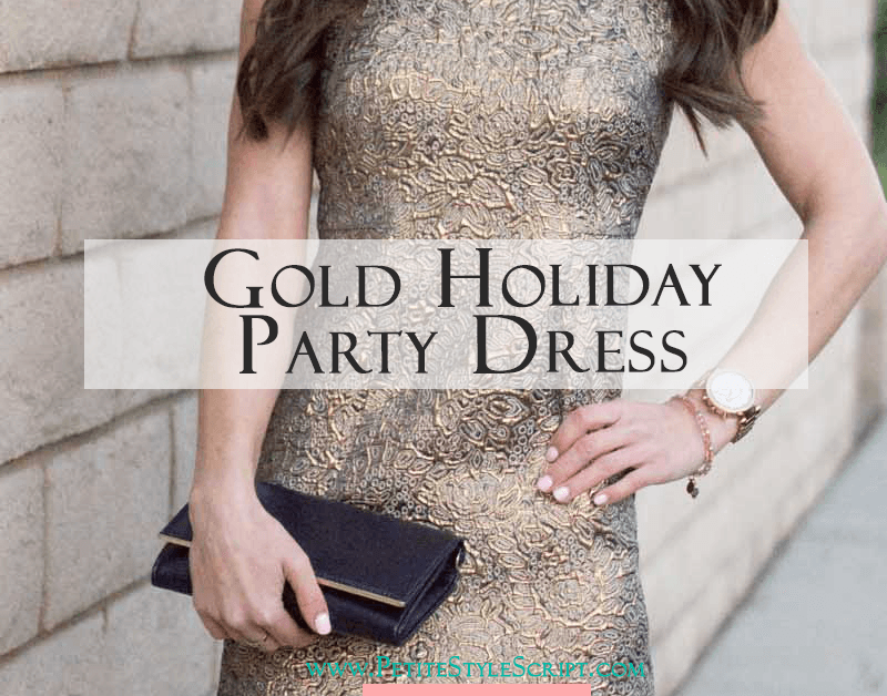 c315e2004a2 Gold Holiday Party Dress - How to Style Year Round