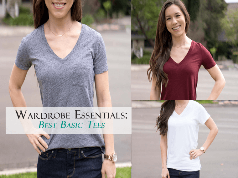 Wardrobe Essentials: Best Basic Tees | Comparison Madewell tee | J. Crew Vintage tee | FIGS super soft tee | Honest review | T-shirts