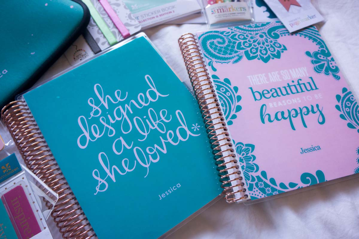 Have a Positive Mind Happy Thoughts Inspirational Pen Holder Clip Accessory for Planner Journal Appointment Book Diary Notebook