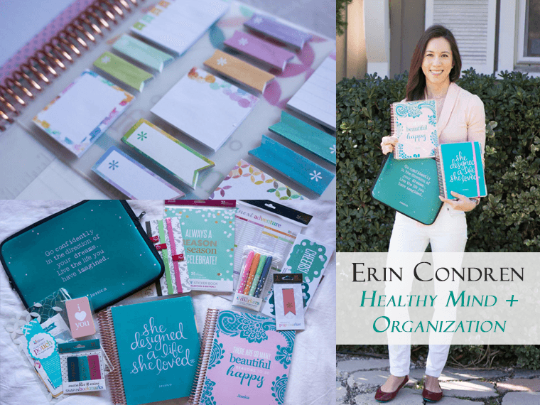 Ultimate Planner Review | Erin Condren | Healthy mind organization stylish, inspirational & customizable life planners & accessories | Carry-all clutch | Stickers