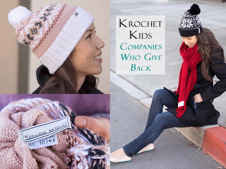 Giving Back Series: Krochet Kids Review | Becks Hat | Dakota Scarf | Crochet hat beanies scarf | Empower women Uganda & Peru | #KnowWhoMadeIt