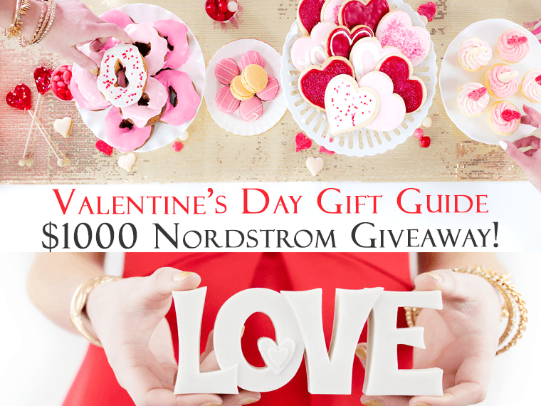 Valentine's Day Gift Guide & Giveaway: Nordstrom | Sheecs socks | Jill-e Designs | Dermalogica | Lette Macarons | Erin Condren | FIGS Scrubs