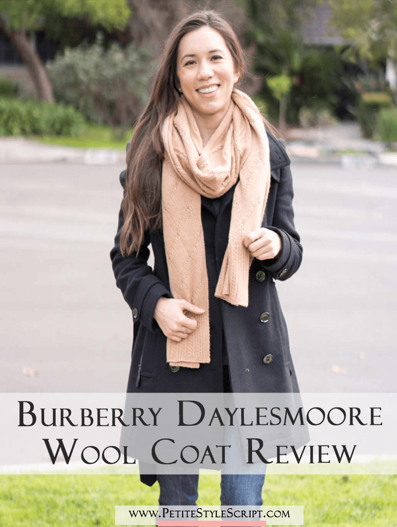 Burberry Daylesmoore Wool Coat Review | Honest review | Bloomingdale's | Petite-friendly fit | Camel Black | Best Winter Outerwear | Classic jacket