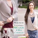 Wardrobe Essentials: Nic+Zoe 4 Way Convertible Cardigan