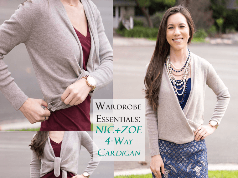 Wardrobe Essentials: NIC+ZOE 4 Way Convertible Cardigan Review | Petite cardigan | Best versatile stylish cardigan sweater | Honest NIC+ZOE review