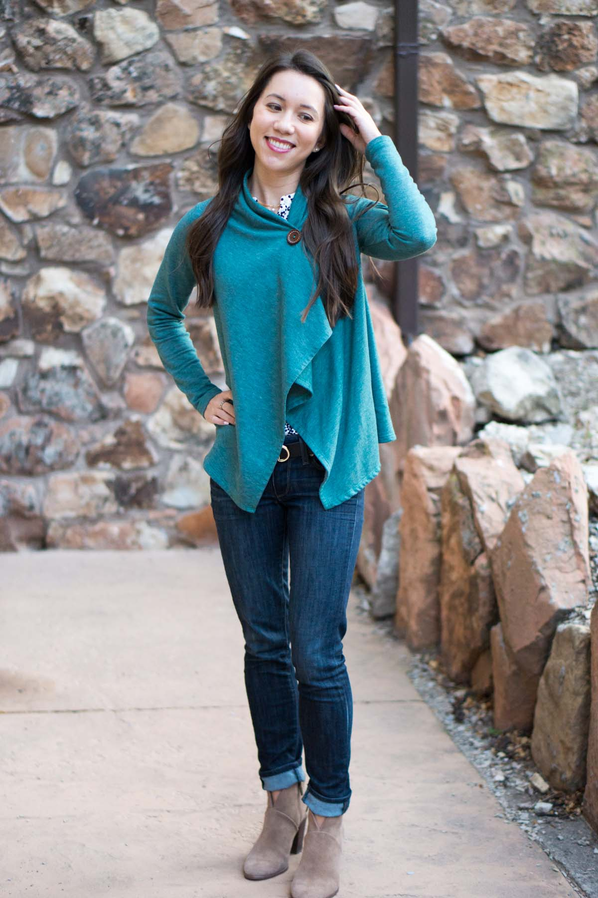 Wardrobe Essentials: Bobeau Fleece Wrap Cardigan Review   Petite cardigan   Best versatile stylish cardigan sweater  Honest Nordstrom Bobeau