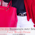 How to Transition into Spring with White Denim