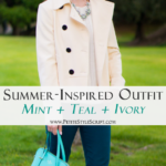 Summer Inspired Mint, Teal & Ivory Outfit