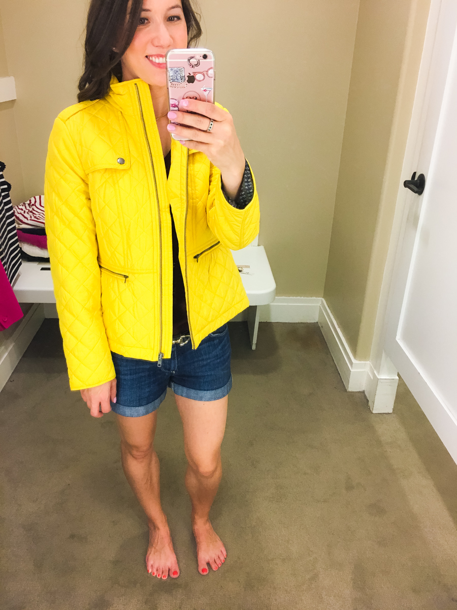Talbots fall collection review, talbots petite fit, talbots reversible horsebit belt, talbots sweater, talbots parisan style, petite fashion and style blog, #modernclassicstyle yellow jacket