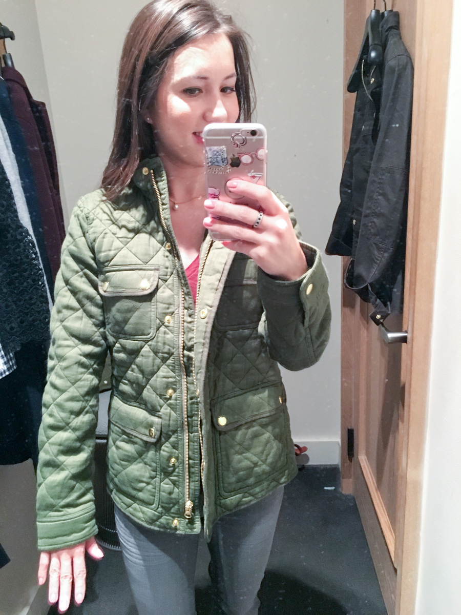 Fit Reviews | J. Crew Fall Collection - Petite Style Script : quilted fall jacket - Adamdwight.com