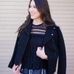 Best Leather Jacket Alternative | Black Twill Moto Jacket
