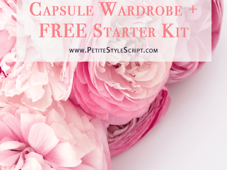 "Learn how to start and build your capsule wardrobe with a Starter Kit and Shopping List for free! Marie Kondo ""KonMari"" philosophy in petite fashion & style 