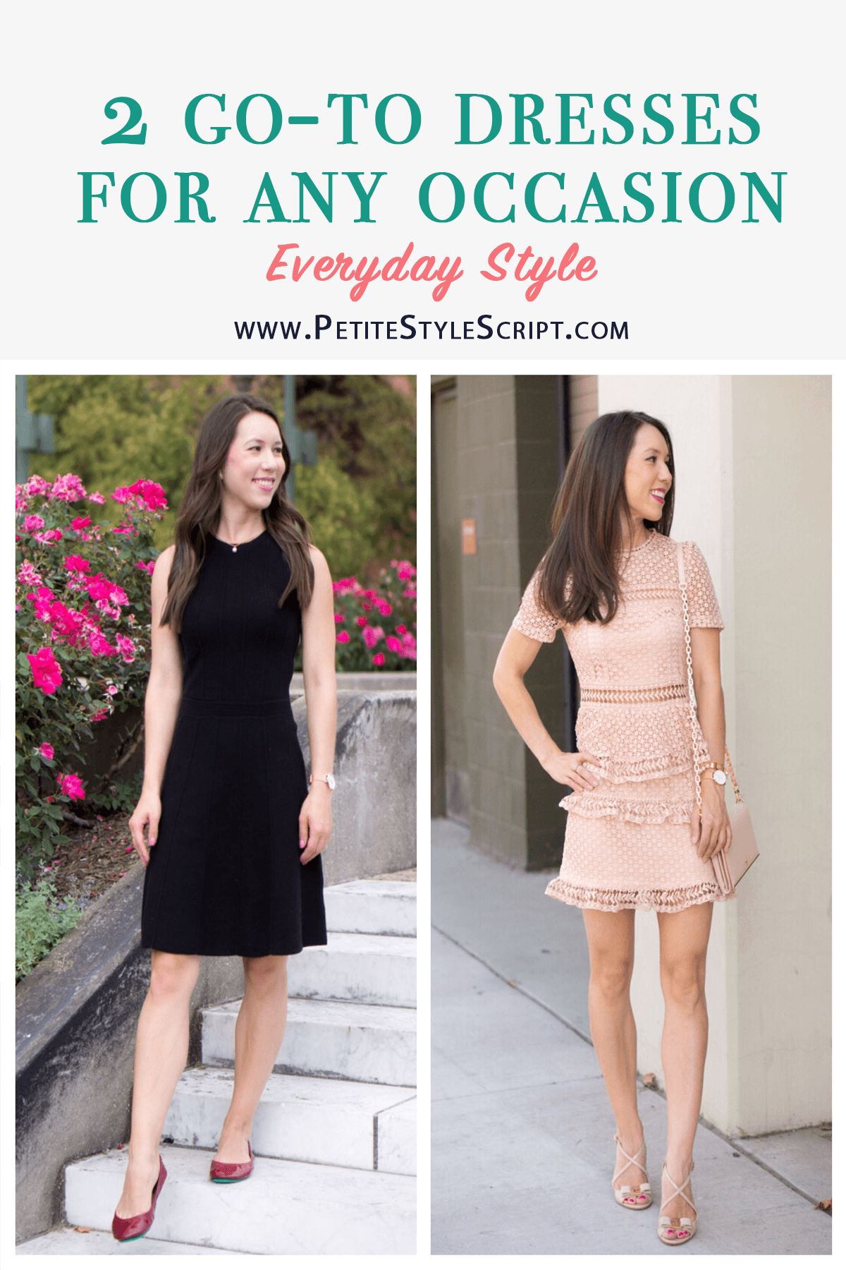 2 Go-To Dresses for Any Occasion: LBD + Lace - Petite Style Script