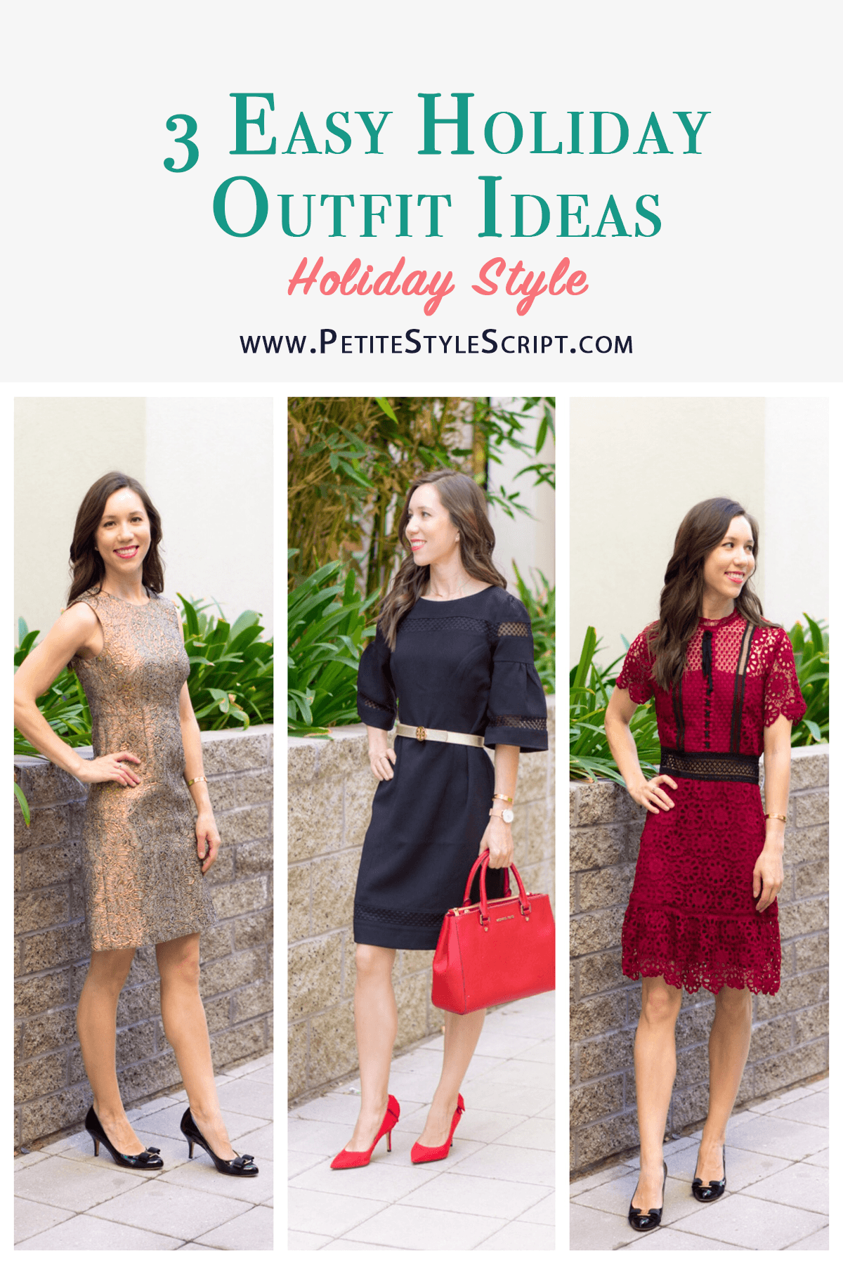 5b63609db91 Outfit Inspiration: 3 Holiday Dress Looks - Petite Style Script
