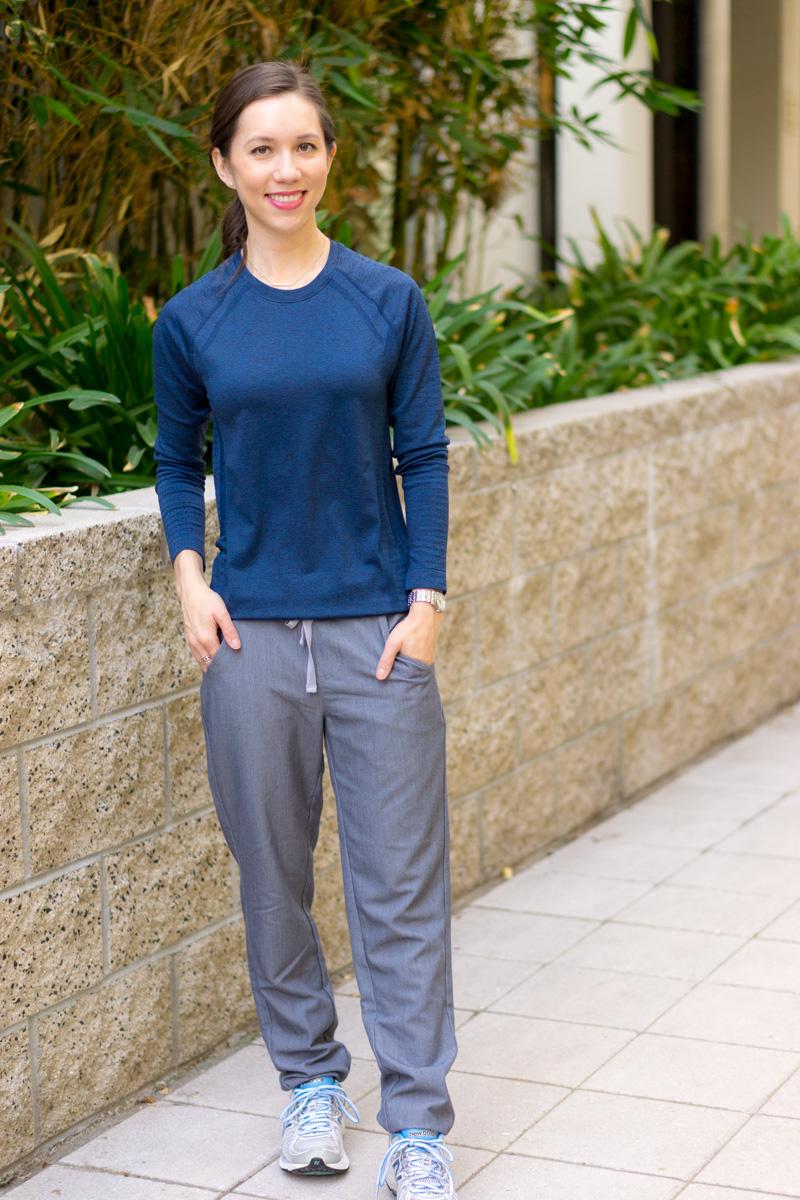 Figs scrubs review longsleeve underscrub vest hoodie for Best shirt to wear under ballistic vest