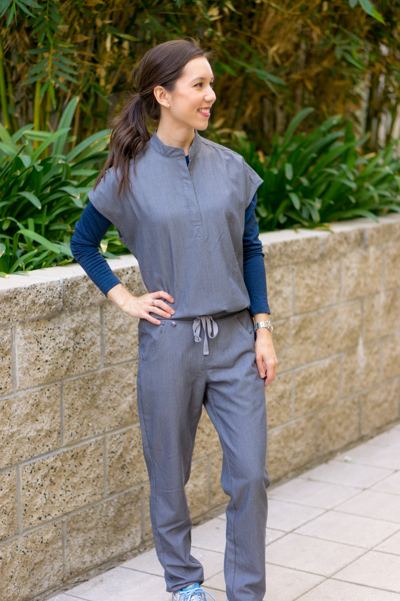 a049485dade Honest Wear FIGS Scrubs Review   FIGS Cadiz Longsleeve underscrub tee  t-shirt   FIGS