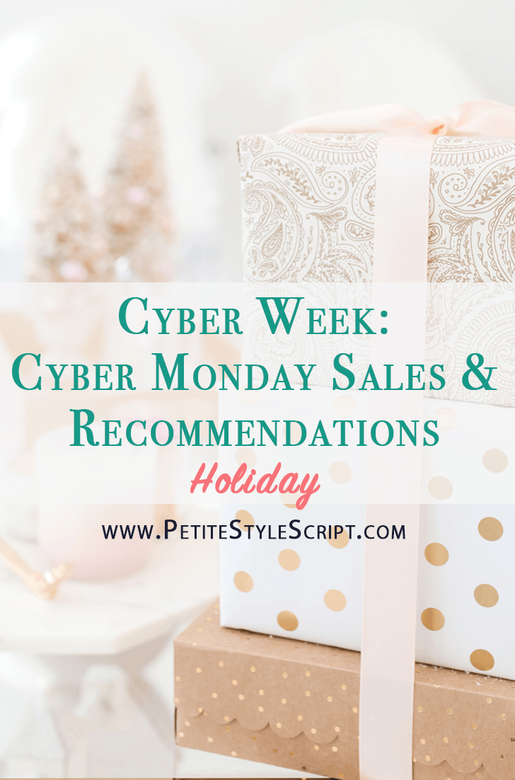 Best Cyber Monday Sales and Deals | Banana Republic outfit inspiration sloan pants work dresses | Macy's wrap dresses | Best petite fashion and style blog blogger