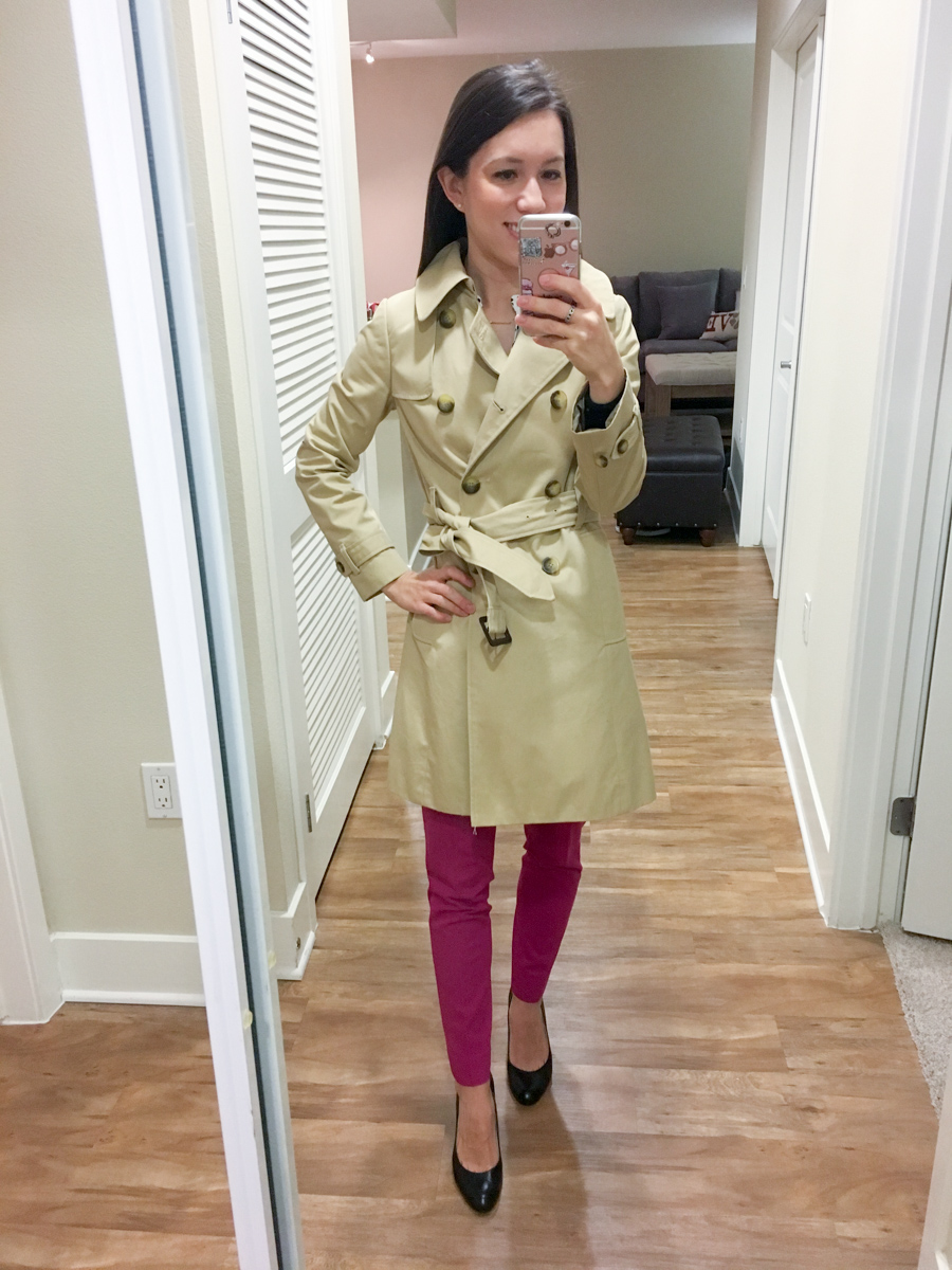 Petite Style Script Instagram Outfits #3 | Weekend Sales | LOFT Fit Reviews | Best petite fashion and style blog | BCBG Wrap Dress | Ann Taylor tweed moto jacket | Theory flare skirt | Express portfolio blouse | Talbots reversible belt | LOFT military jacket shift dress | Banana Republic peplum jacket