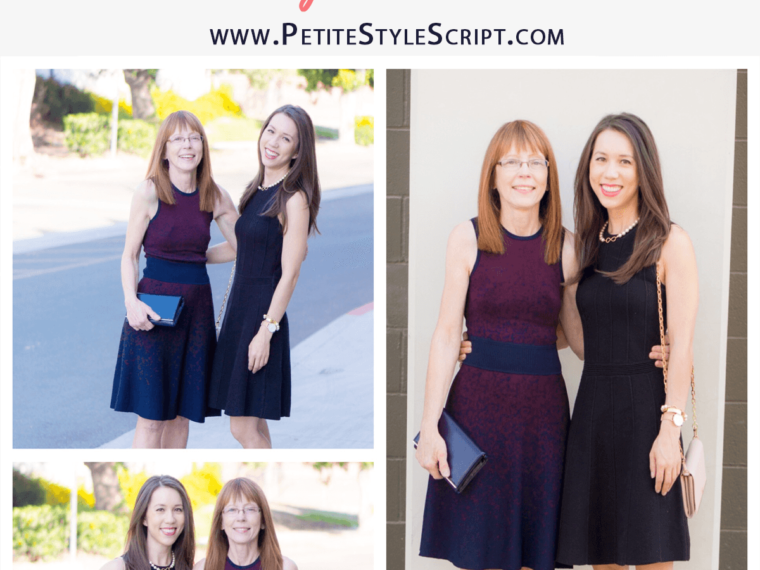 How to Style Sweater Dresses | Bridging the Gap Style Edition | Mother-daughter style advice | Petite fashion and style blog | Ann Taylor | LOFT | Nordstrom | Macy's | Tieks ballet flats | Tory Burch wallets | KJP pearl bracelet | Pieces of Me Bracelet Cuff