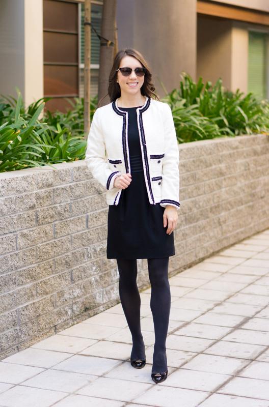 92316f1f4e10 Chanel-inspired blazer | Talbots Provence Tweed Jacket |Chanel-inspired  tweed jacket