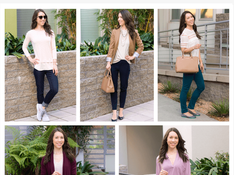 Five go-to tops to make you look effortlessly put together | tops to look instantly put together | polished outfits | easy casual outfit | easy office outfit | date night | gibson twist front | zella twist front | M. Gemi cerchio sneaker review | whbm jacket | blanknyc faux leather jacket | lush tunic blouse | madewell v-neck tee | lace tee top | J. Crew Factory drapey tee