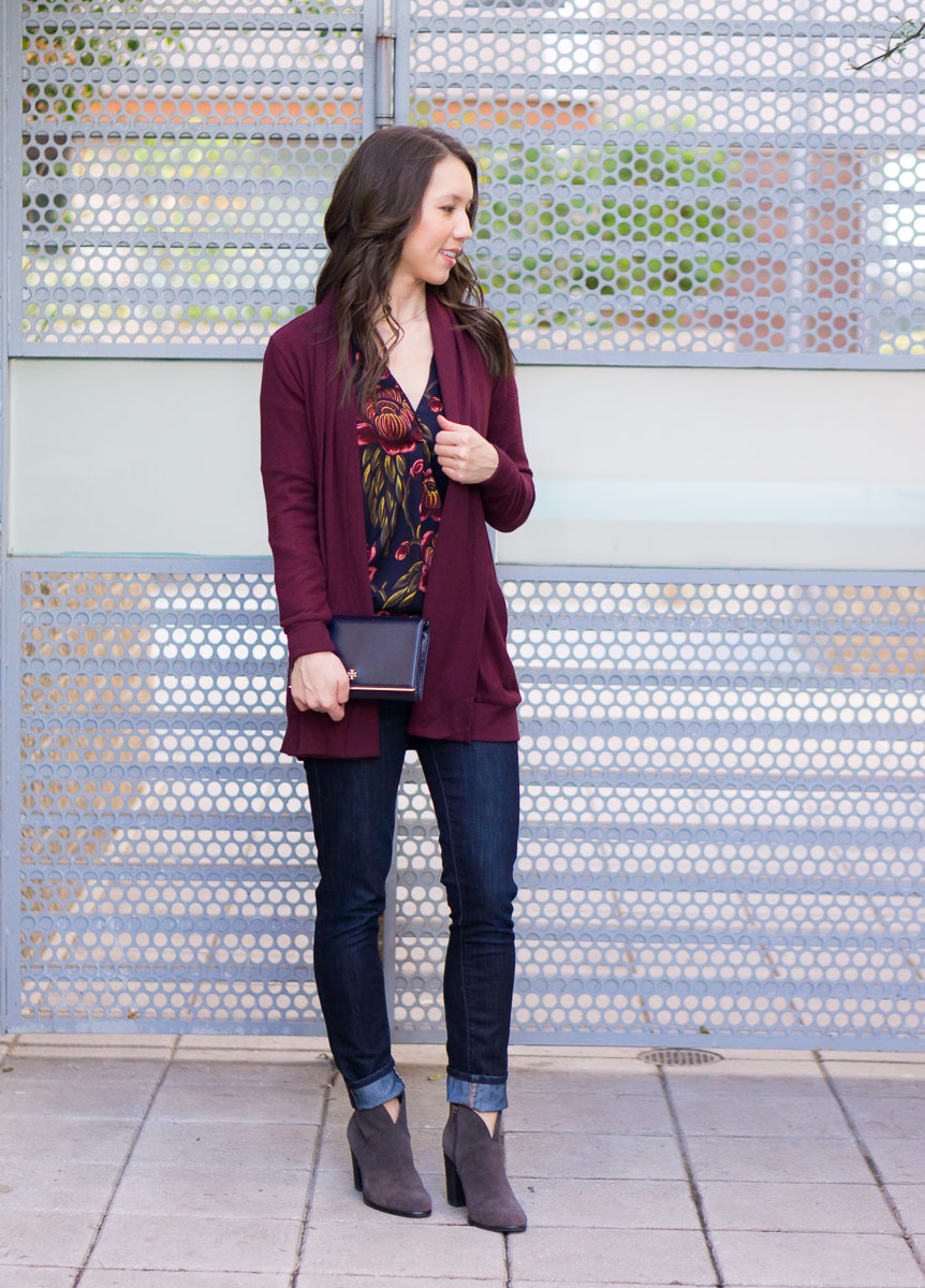 3 Ways To Style A Burgundy Cardigan Petite Style Script