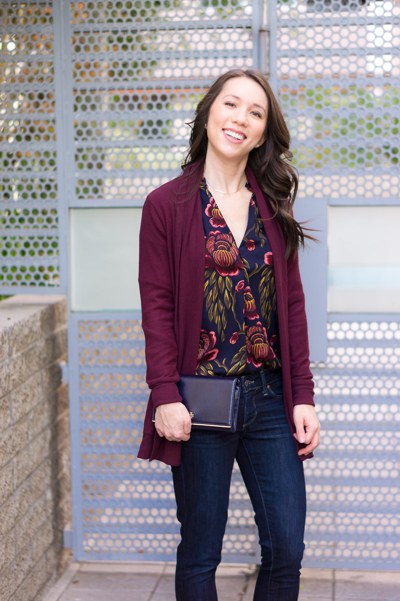 3 Ways to Style a Burgundy Cardigan