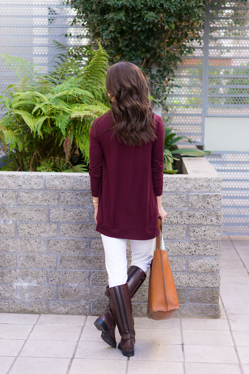 3 Ways To Style A Burgundy Cardigan Petite Style Script