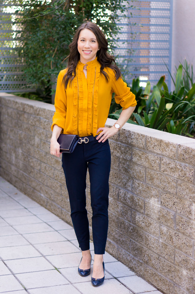Fashion style How to mustard wear yellow shirt for lady