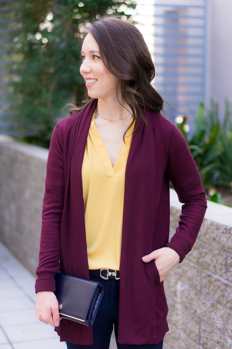 2853ab41425 How to Wear Navy   Mustard Yellow Together + 9 Affordable Tops