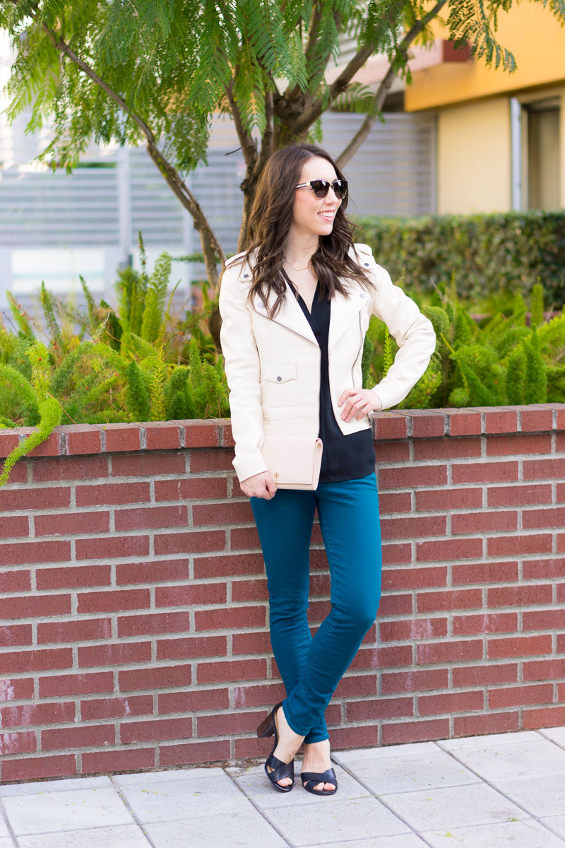 c47f4c9a89d How to Style an Ivory Leather Jacket + 9 Jacket Options