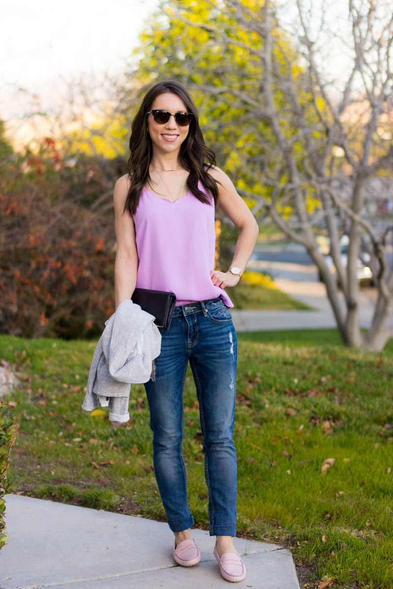 af9d4938cd J. Crew Factory Scallop Camisole Top Review | scallop tank | scallop  longsleeve tee