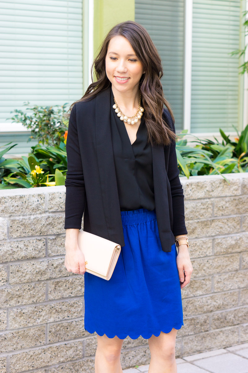 How To Style A Scallop Cami Tee Skirt Adding Texture To An Outfit Petite Style Script