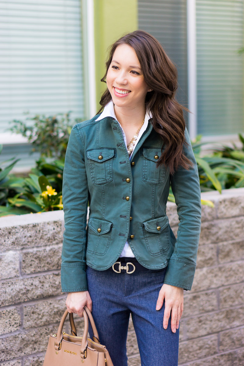 a6f475cca24b Tips for Choosing   Styling a Utility Jacket - Petite Style Script