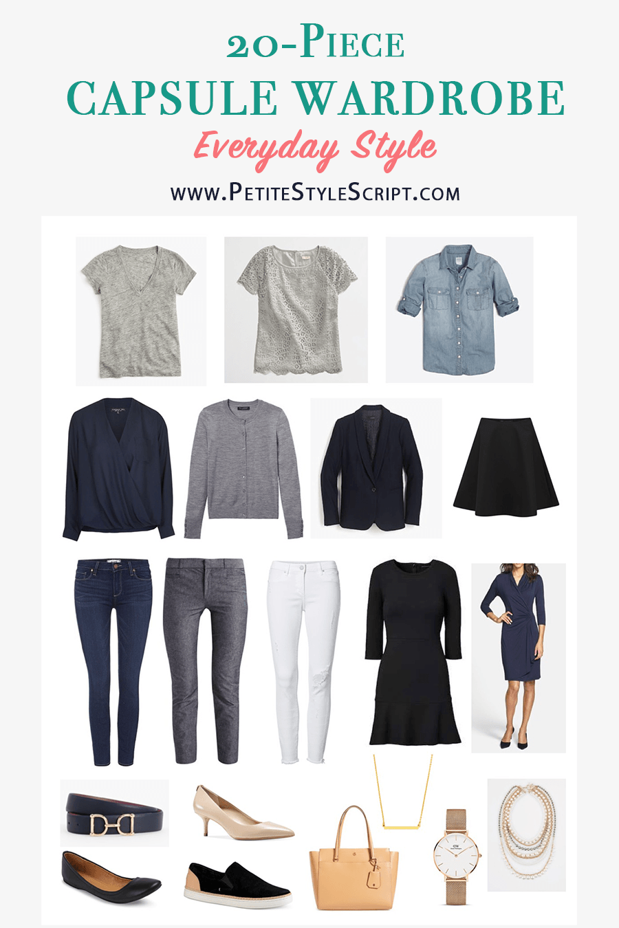 Capsule Wardrobe Starter Kit Shopping Guide